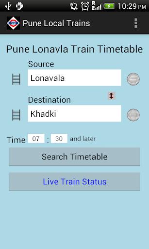Pune Local Train Timetable 2.4 screenshots 1