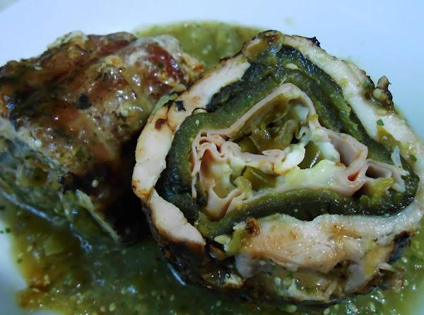 Stuffed Chicken And Poblano Rolls Recipe