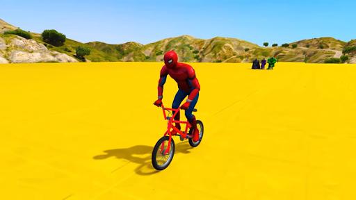 Superhero BMX Stunts Racing: Buggy Hill Heroes  screenshots 4