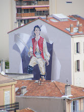 Photo: There are a number of oversized murals in Cannes celebrating the film industry - this may be one of them, but we're not sure who's being celebrated here.