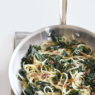Spaghetti Carbonara with Black Kale