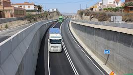 Acceso soterrado al puerto comercial de Garrucha inaugurado en mayo de 2016.