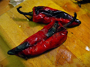 Photo: charcoal-grilled fresno peppers