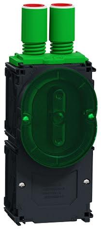 Schneider Multifix Apparatdosa BigBox 1½-facks Enkelgips 2x16/20