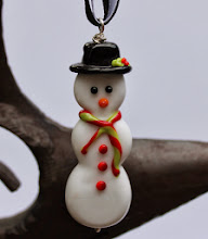 Photo: $35 large snowman ornament, can be made into necklace upon request