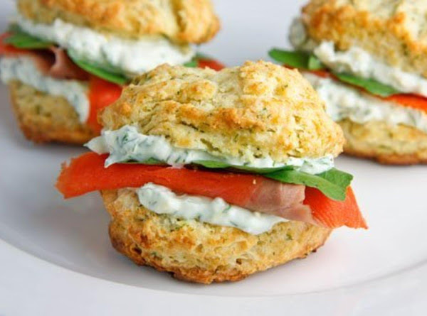 Dill Bisquits With Smoked Salmon And Cream Cheese Recipe