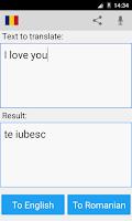 Screenshot of Romanian English Translator