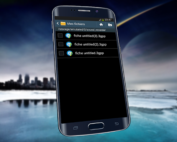 how to set voice recording as text tone android