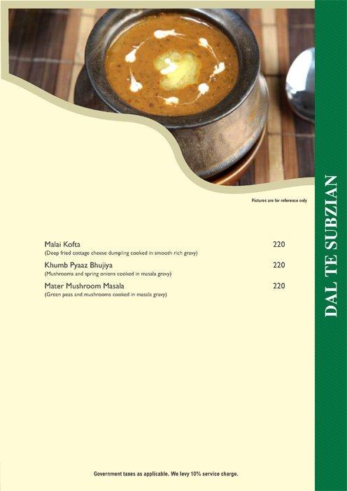 Pind Balluchi menu 7