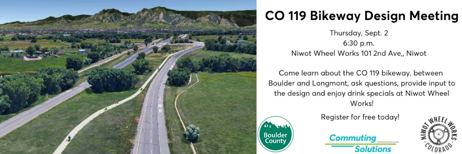 CO 119 Bikeway Public Engagement at Niwot Wheel Works!