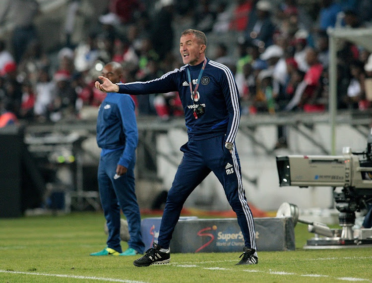 Orlando Pirates head coach Milutin Sredojevic during the Absa Premiership match between Orlando Pirates and Bloemfontein Celtic at Orlando Stadium.