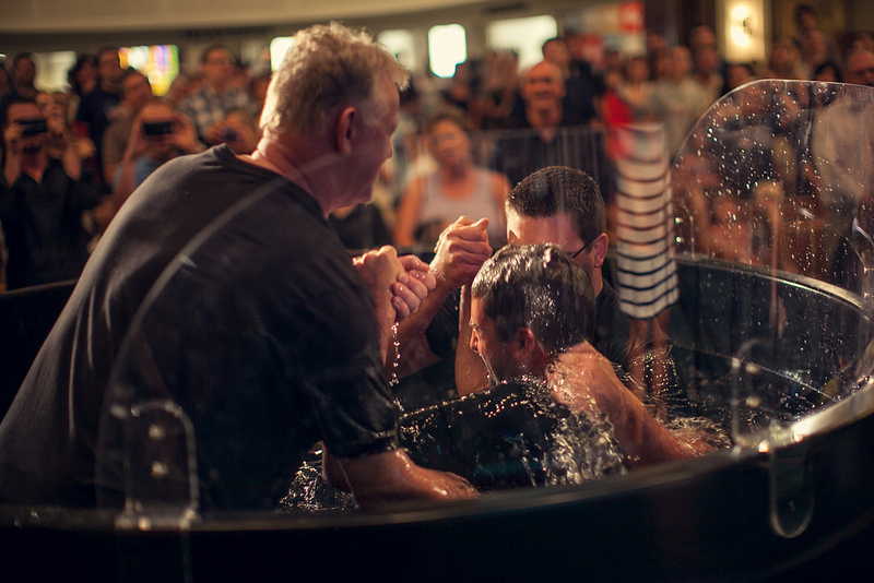 Photo: And there were 10 baptisms at the Portland church.