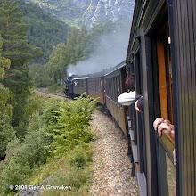 Photo: Historic train operated by Norwegian Railway Club on the Rauma line