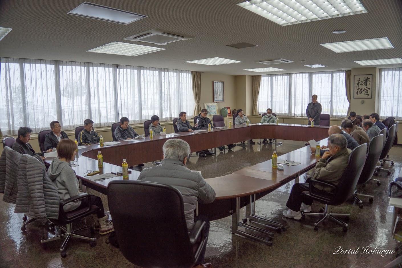 北竜メロン生産組合全体懇談会