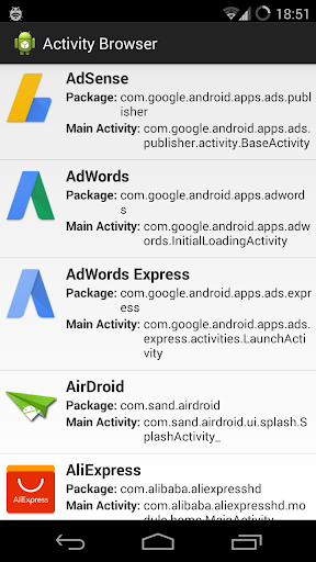 ACTIVITY BROWSER