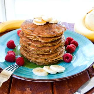 Peanut Butter Banana Flour-less Pancakes.