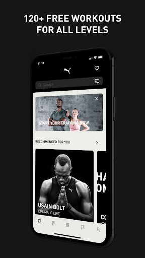PUMATRAC Home Workouts, Training, Running, Fitness screenshots 1