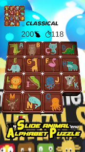Slides Animal - Alphabet Puzzle - náhled