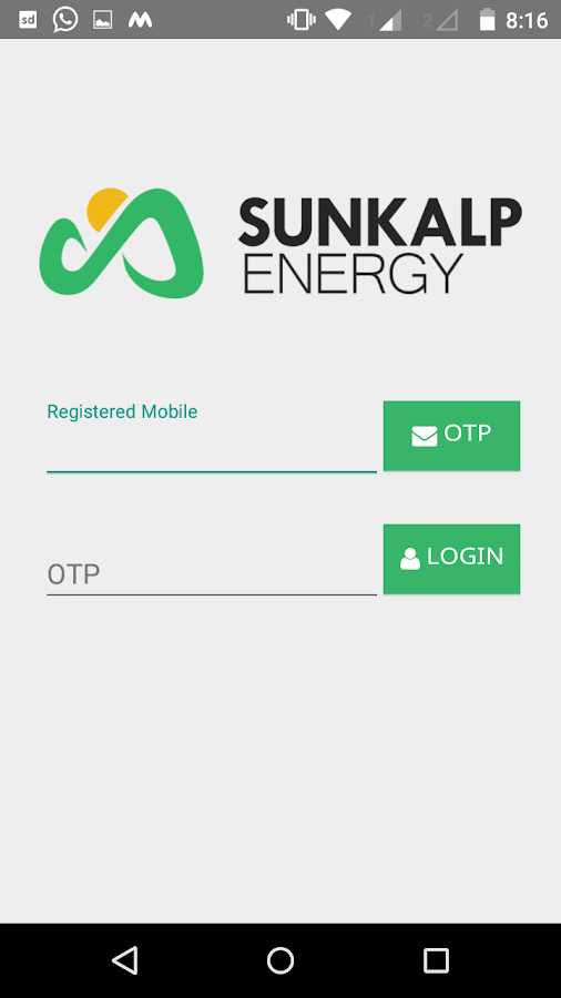 Sunkalp Partner App- screenshot