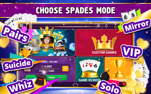 VIP Spades - Online Card Game 3.6.85 screenshots 17
