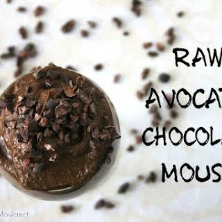 Raw Avocado Cacao Mousse.