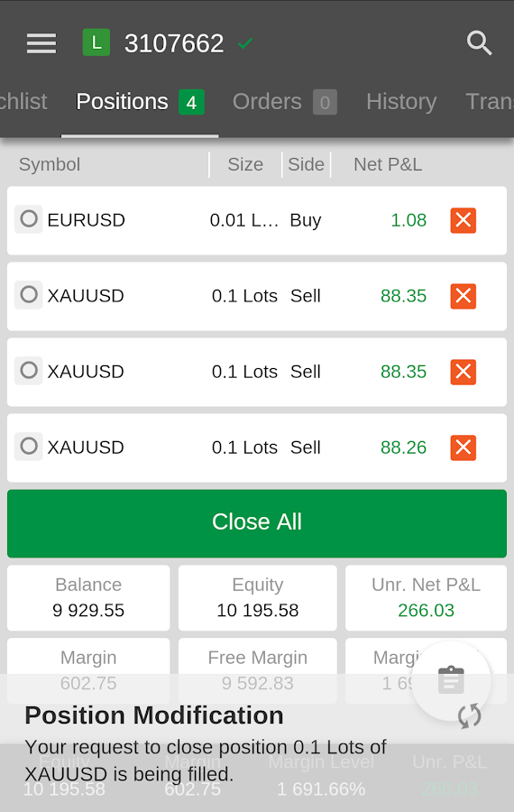 DollarFX cTrader- screenshot
