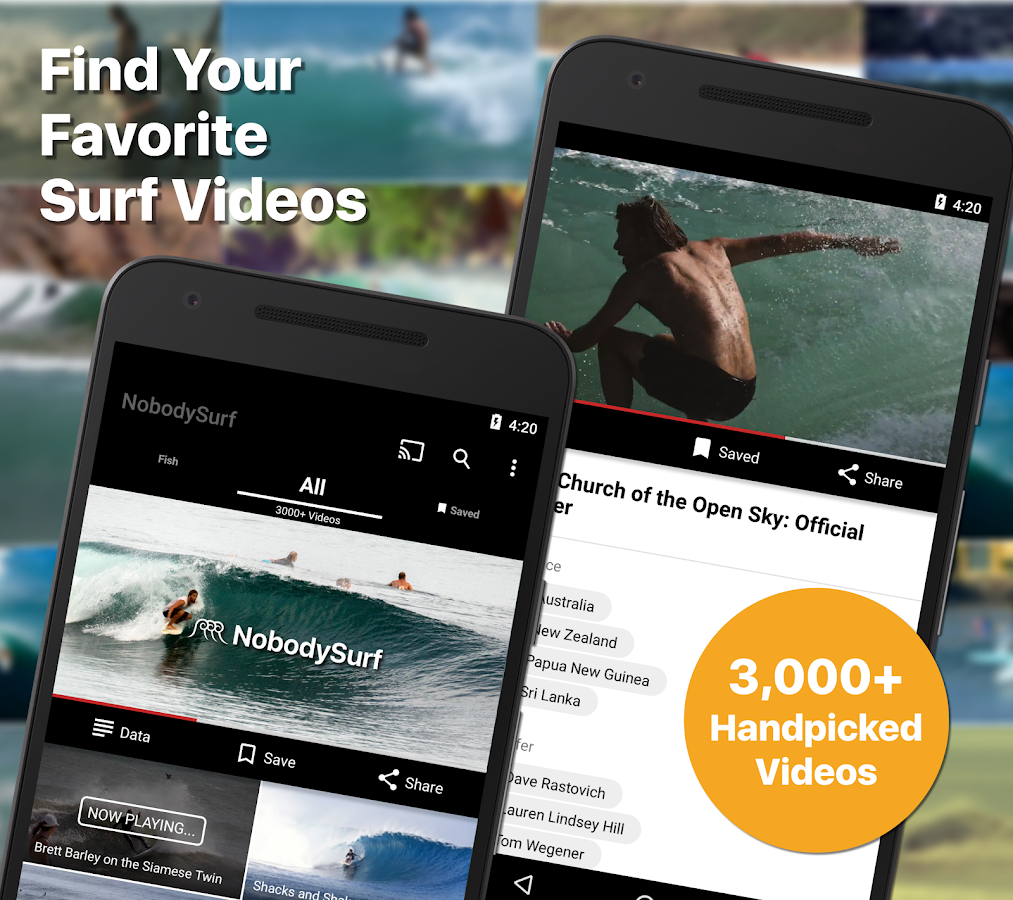 NobodySurf - Surf Video Search & Playlists- screenshot