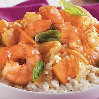 Thai Shrimp Sweet Potato Curry.