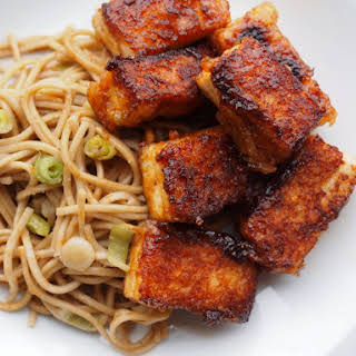 Crispy Tofu with Soba Noodles.