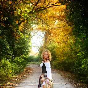 Into the Woods by Julie Anderson - People Portraits of Women