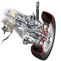Front wheel drive system diagrams icon