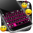Pink Neon Keypad Theme apk