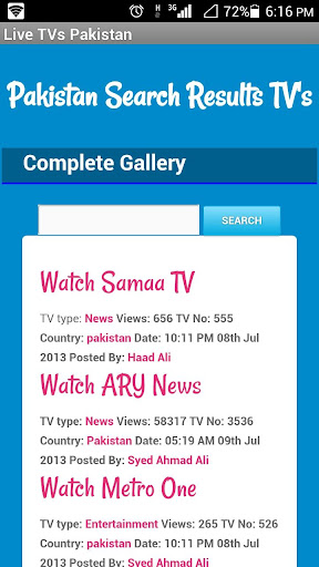 Live TV Pakistan and Dramas