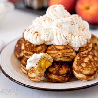 Peaches and Cream Ebleskivers.