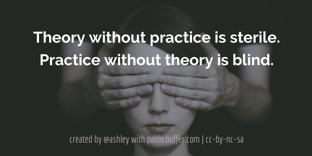 Theory without practice is sterile. Practice without theory is blind.