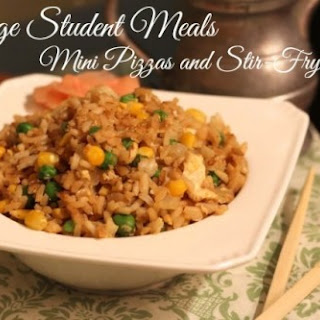 College Student Meals – Mini Pizzas and Stir Fry Week.