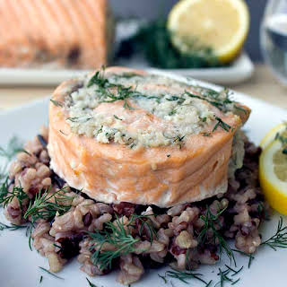 Easy Salmon and Crab Rolls.