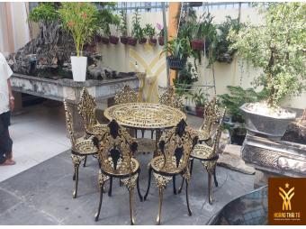 Bộ bàn ghế nhôm đúc chống chọi tốt với thời tiết khắc nghiệt