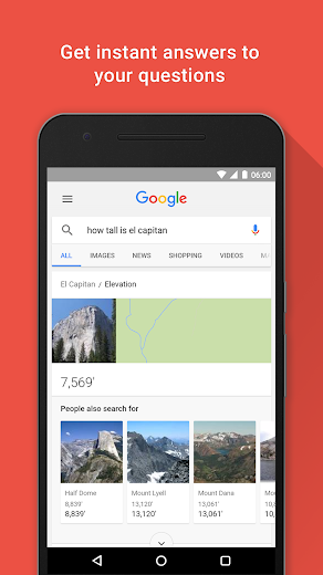 Screenshot 1 for Google's Android app'