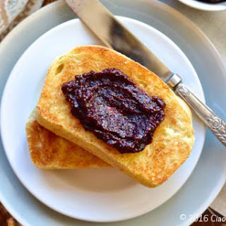 English Muffin Toast with Blueberry Fig Jam.