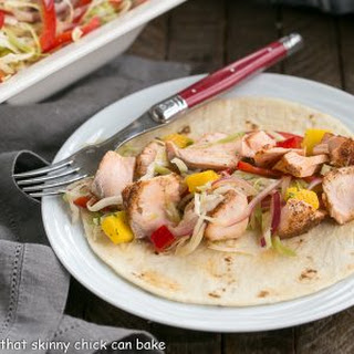 Soft Shell Salmon Tacos with Mango Salsa.