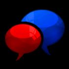 GO SMS Royal Crimson Cobalt icon