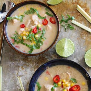Lemongrass Basil Chicken Soup.