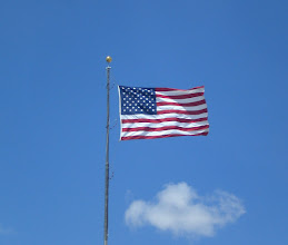 Photo: The stars and stripes welcome you!