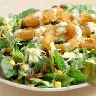 Onion Ring Southwest Salad with Spicy Honey Mustard