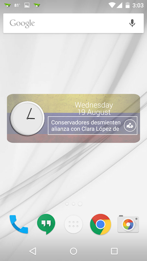 Colombia Clock RSS Widget