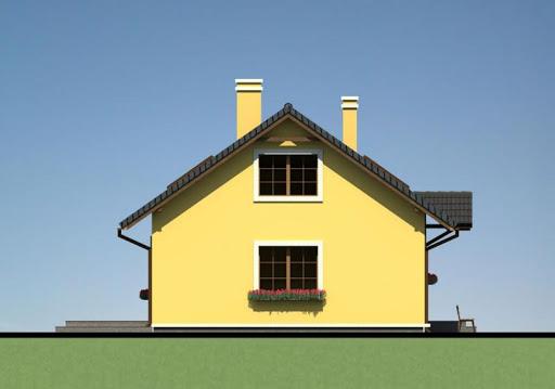 Mały dom w Chociwlu 1 - Elewacja lewa
