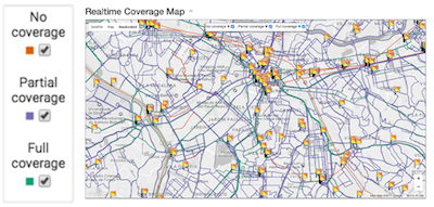 Transit Real Time Coverage Map