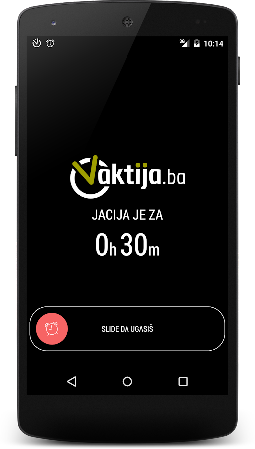 Vaktija.ba- screenshot