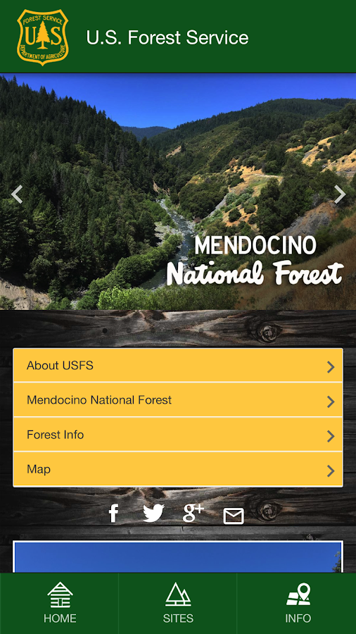Mendocino National Forest- screenshot